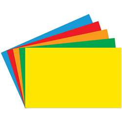 Index Cards Blank 100Ct 5X8 Primary Assorted, TOP3664