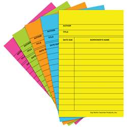 Library Cards Brite Assorted 500/Bx - Top369 By Top Notch Teacher Products