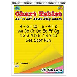 Chart Tablets 24 X 32 Assorted 1/2 Ruled - Top3820 By Top Notch Teacher Products