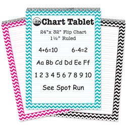 3 Pack Pink-Teal Black Chevron Cht Tab Ruled, TOP3837