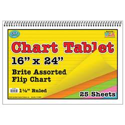 Chart Tablets 16 X 24 Assorted 1/2 Ruled - Top3840 By Top Notch Teacher Products
