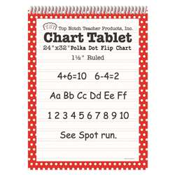 Polka Dot Chart Tablet Red 1.5 Ruled - Top3847 By Top Notch Teacher Products