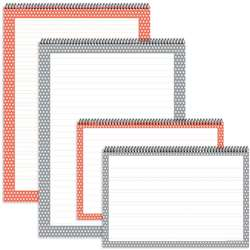 Assortd Polka Dot Chart Tablets 4Pk, TOP3882