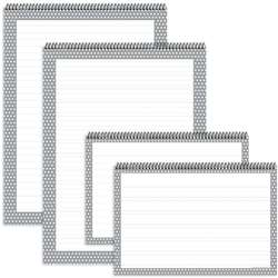 Gray Polka Dot Chart Tablets 4Pk, TOP3883