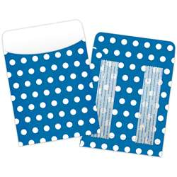 Brite Pockets Blu Polka Dots 25/Bag Peel & Stick - Top6032 By Top Notch Teacher Products