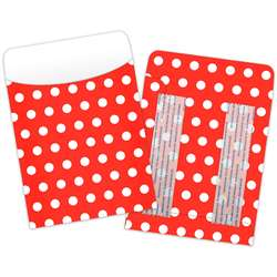 Brite Pockets Red Polka Dots 25/Bag Peel & Stick - Top6033 By Top Notch Teacher Products