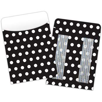 Brite Pockets Blk Polka Dots 25/Bag Peel & Stick - Top6035 By Top Notch Teacher Products