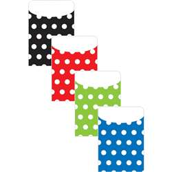 Brite Pockets Asst Polka Dots 35Bag - Top6439 By Top Notch Teacher Products