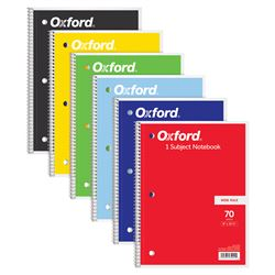 Oxford 1 Subject Notebook 70 Sheets Wide Rule, TOP65002
