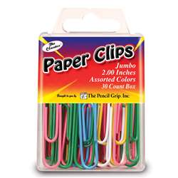 Jumbo Paper Clip Assorted Colors 2.0 30 Pc Box - Tpg238 By The Pencil Grip