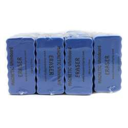 Magnetic Whiteboard 24Pk Blue 4X2 Erasers, TPG35224