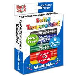Kwik Stix Tempera Paint 6Pk Primary Colors, TPG601