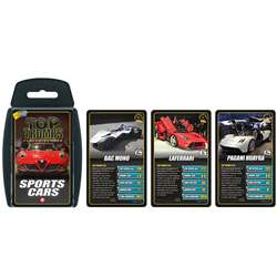Sports Cars Top Trumps Card Game, TPU001688