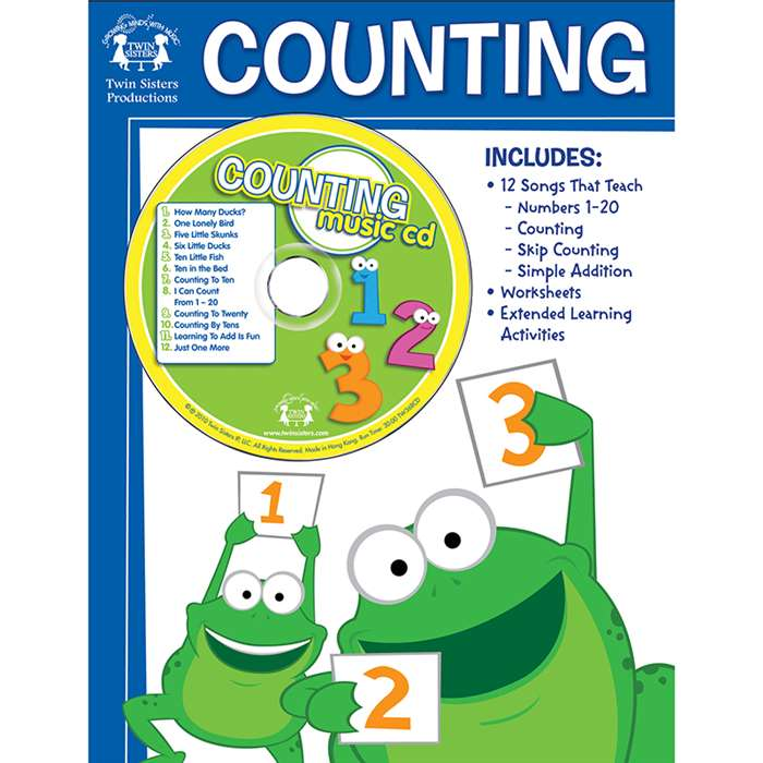 Workbooks/Songs That Teach Counting Workbook & Cd - Twin368Cd By Twin Sisters Productions