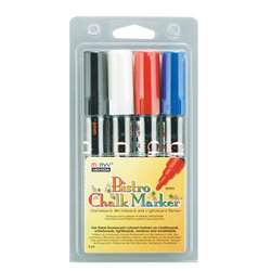 Bistro Chalk Markers Brd Tip 4 Clr Set Black Red B, UCH4804C