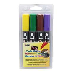 Bistro Chalk Markers Brd Tip 4 Clr Set Brown Green, UCH4804D