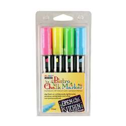 Bistro Chalk Markers Chisel Tip 4 Clr Set Fluor Yl, UCH4834H