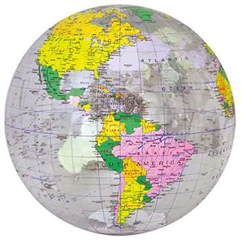 "16"" Inflatable Transparent Globe, UNI1736527"