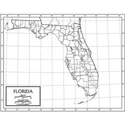 Outline Map Paper Florida, UNI21176