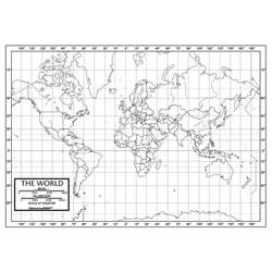 Shop World Outline Maps Paper - Uni21220 By Kappa Map Group / Universal Maps