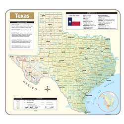 Shaded Relief Map Rolled Texas, UNI28412