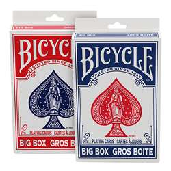 Red/Blue 6 Packs Of Playing Cards Bicycle Big Box , USP1042343