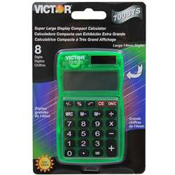Dual Power Pocket Calculator - Vct700Bts By Victor Technology