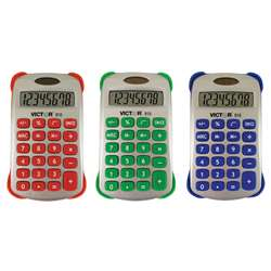 Colorful 8 Digit Handheld Calculator - Vct910 By Victor Technology
