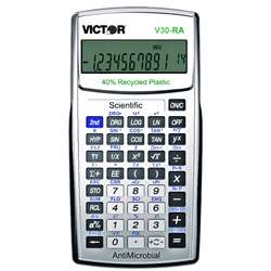 Ten Digit Scientific Calculator W Antimicrobial Protection - Vctv30Ra By Victor Technology