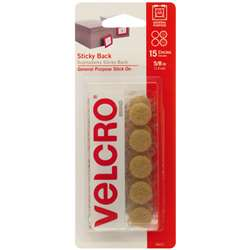 "Sticky Back 5/8"" Circles Beige 15 Pack, VEC90071"