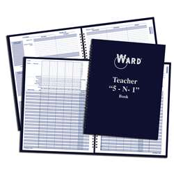 Teacher 5 In 1 Grade Book Lesson Planner Behavior Forms & Calendar - War51 By Ward The Hubbard