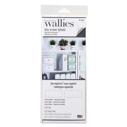 Rectangle Labels Wallies Dry Erase, WLE16206
