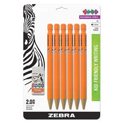 2 Hb 2Mm Mech Pencil 6Pk 1 Eraser Starters, ZEB52816