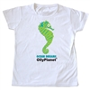 Happy green seahorse toddler tee
