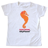 Adorable Orange Seahorse Tshirt for Toddlers on OllyPlanet.com