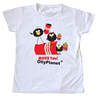 Toddler Tee featuring OllyPlanet characters at the movies!