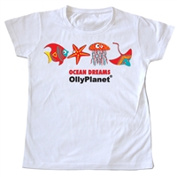 Ocean Dreams Tshirt in Red for Toddlers