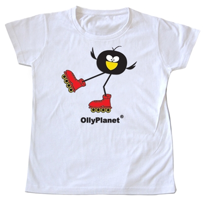 OllyPlanet's famous Olly Rollers design on a toddler tee.