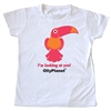 This pink toucan tee is an adorable design for the girl toddler in your life!