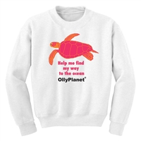 Sweatshirt with Pink /orange Turtle design