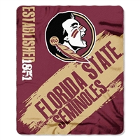 "Florida State Seminoles 50""x60"" Painted Fleece Throw"