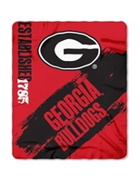 "Georgia Bulldogs 50""x60"" Painted Fleece Throw"