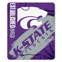 "Kansas State WIldcats 50""x60"" Painted Fleece Throw"
