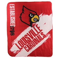 "Louisville Cardinals 50""x60"" Painted Fleece Throw"