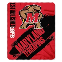 "Maryland Terrapins 50""x60"" Painted Fleece Throw"