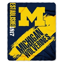 "Michigan Wolverines 50""x60"" Painted Fleece Throw"