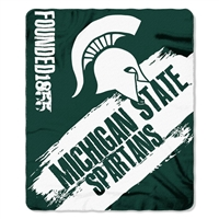 "Michigan St Spartans 50""x60"" Painted Fleece Throw"