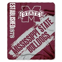 "Mississippi State Bulldogs 50""x60"" Painted Fleece Throw"