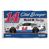 2017 Clint Bowyer #14 Mobil 1  3'x5' Double Sided Flag