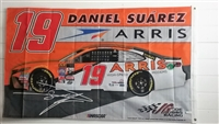 2017 Daniel Suarez #19 Arris 3'x5' Double Sided Flag